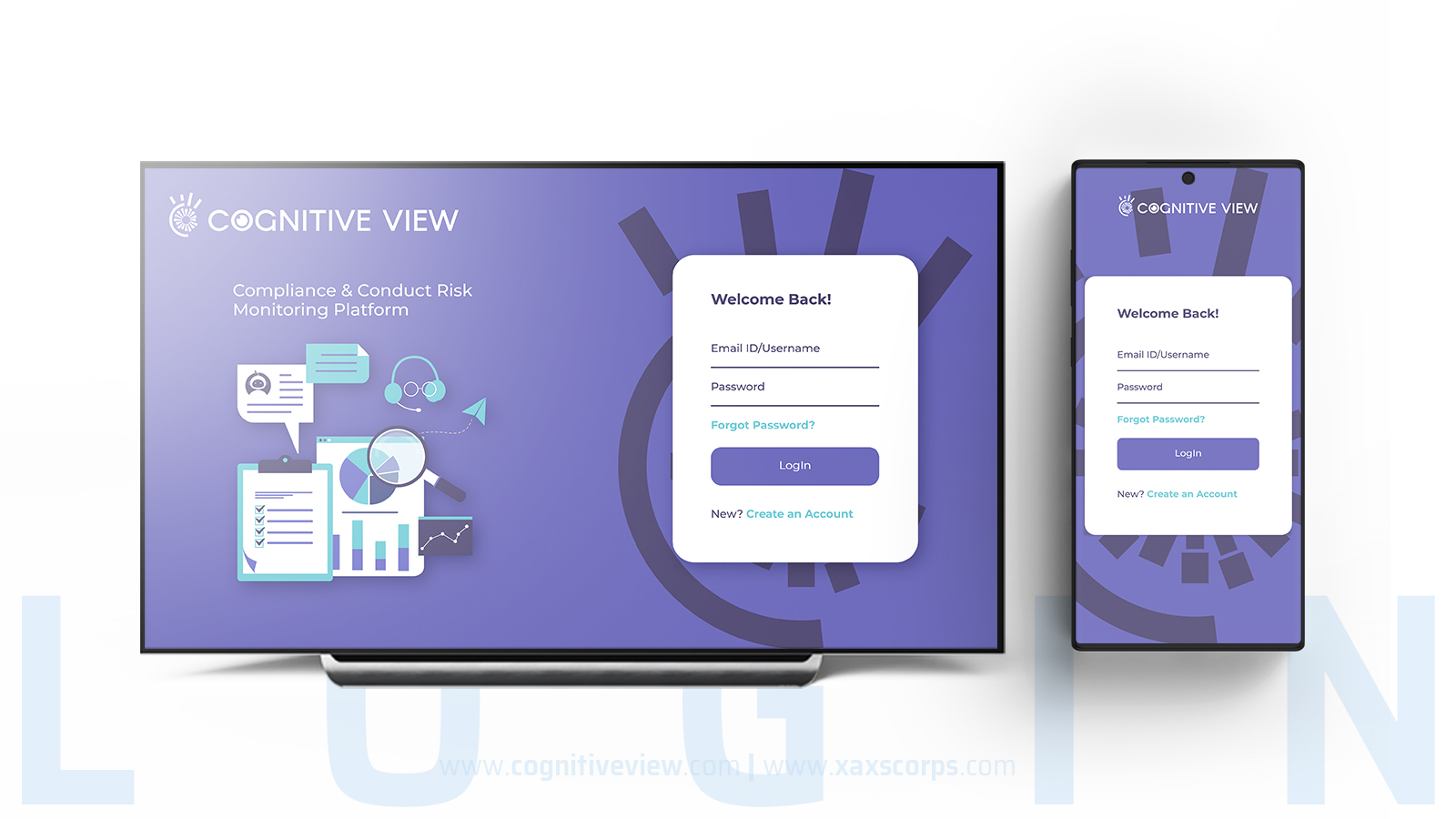 CognitiveView Login UI by XAXs Corps