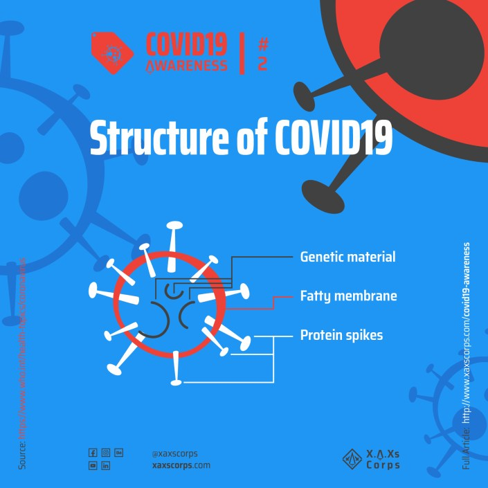 XAXs Covid19 structure diagram and awareness poster