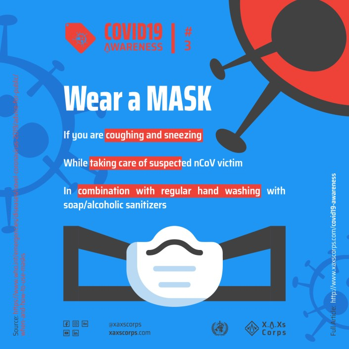 XAXs Covid19 Mask and awareness poster