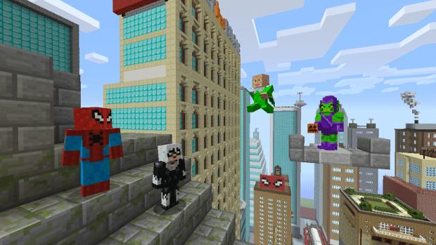 Minecraft Spider Man Skin Pack Coming April 30 XBLAFans