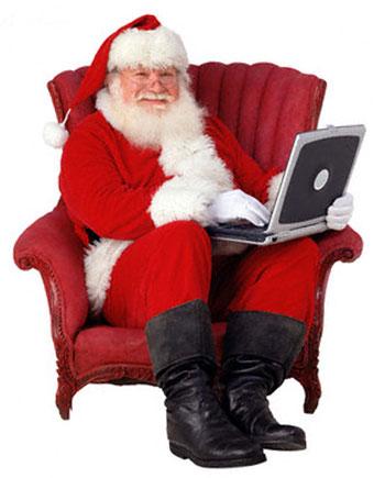 Άγιος Βασίλης με laptop