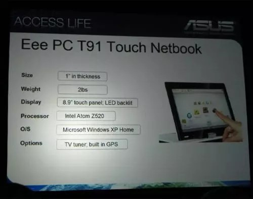 Asus Eee PC T91 Tablet PC