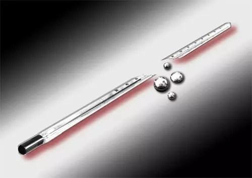 Θερμόμετρο με υδράργυρο