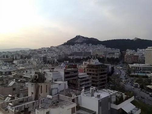Αθήνα, Θέα από Divani Caravel roof garden