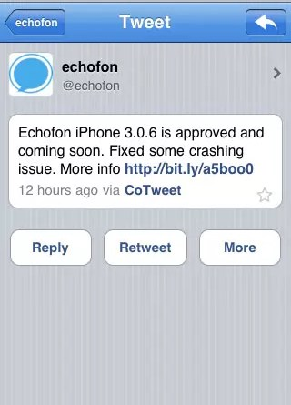 Echofon iPhone App