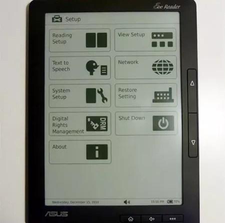 ASUS eBook reader