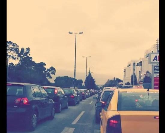 Απεργία στα Μέσα Μεταφοράς, Κίνηση στους δρόμους