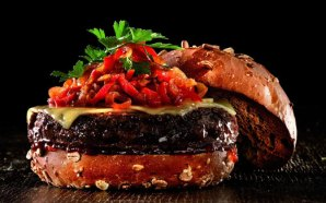 Spicy Red Pepper Relish Burger