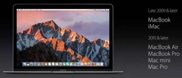 Apple macOS Sierra compatibility list