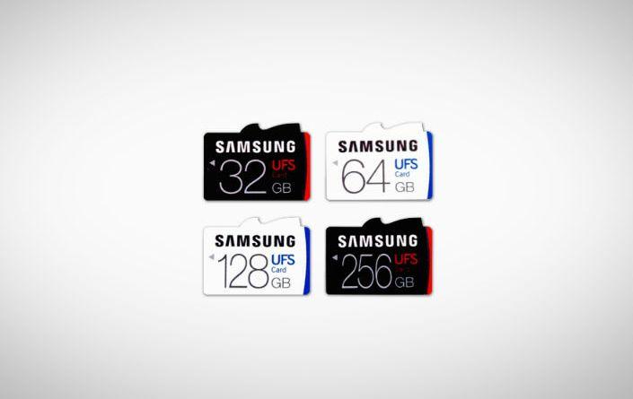 Samsung UFS memory cards