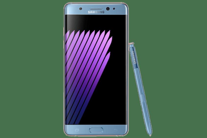 Samsung Galaxy Note7 coral blue