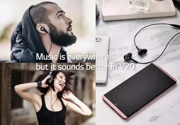 LG V20 sound