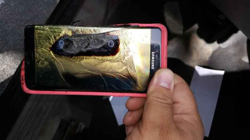 Samsung Galaxy Note 7 explosion