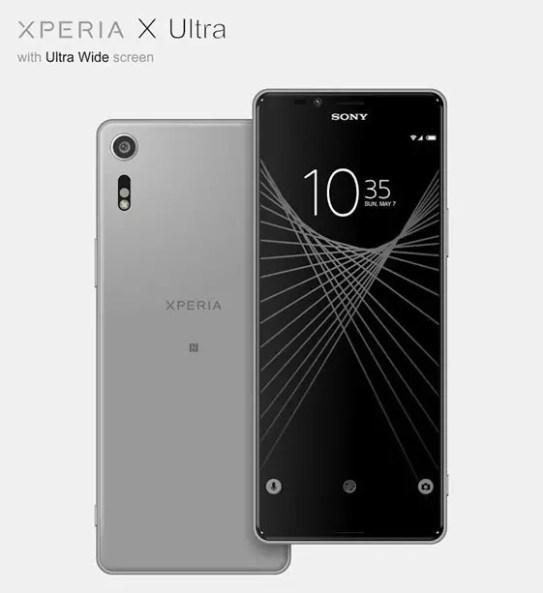 Sony Xperia X Ultra 2017 gray leak