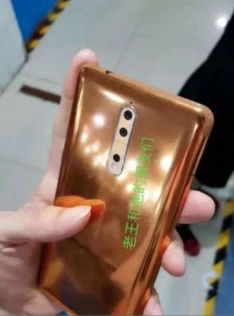 Nokia 8 copper color leak