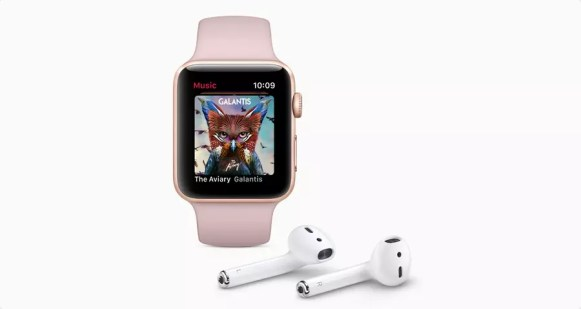 Apple Watch Series 3 music AirPods