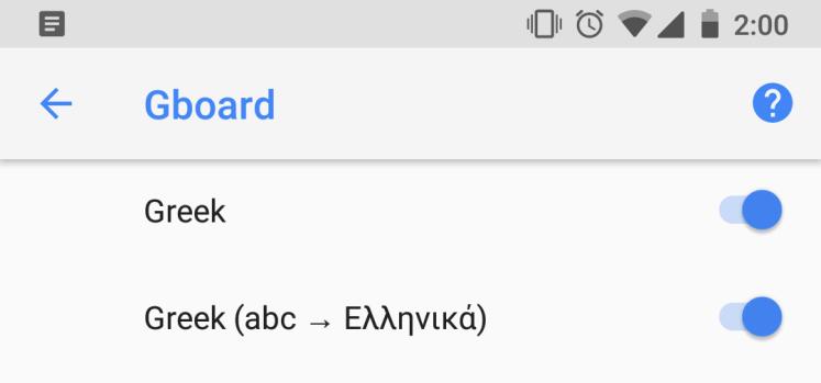 Google Gboard greeklish