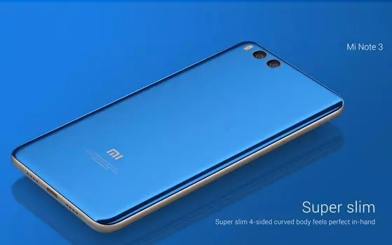 Xiaomi Mi Note 3 blue