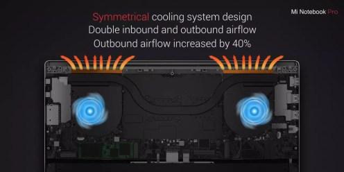 Xiaomi Mi Notebook Pro cooling