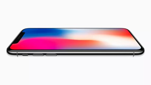 Apple iPhone X side flat