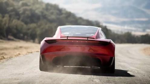 Tesla Roadster rear profile