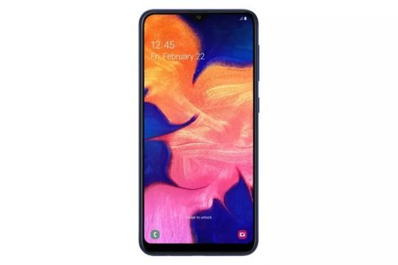 Samsung Galaxy A10 front blue