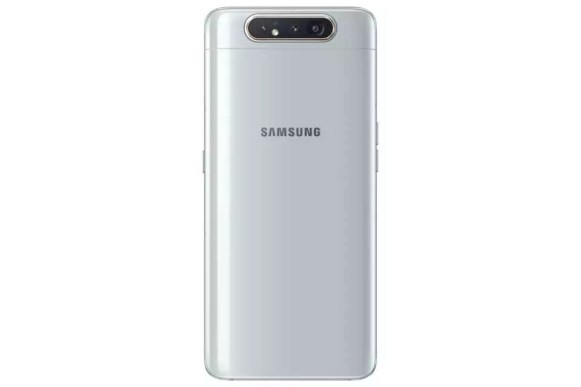 Samsung galaxy a80 ghost white back