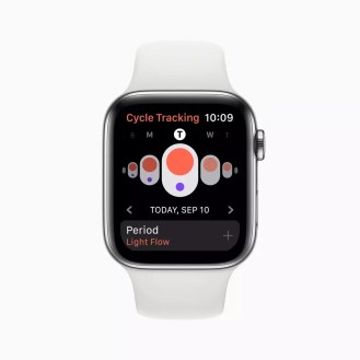 Apple watch series 5 cycle tracking app screen 091019