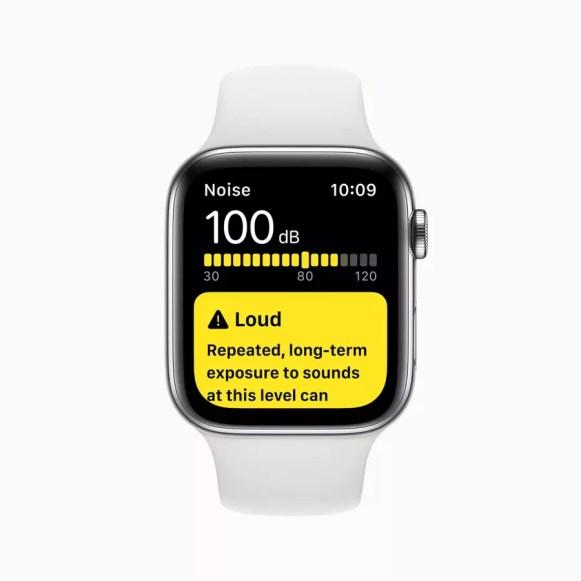 Apple watch series 5 noise app screen 091019