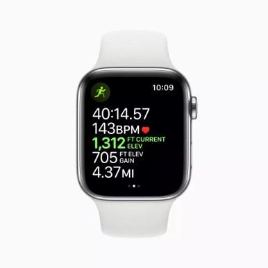 Apple watch series 5 workout outdoor run elevation open goal screen 091019