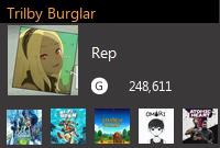 Trilby Burglar's Gamercard
