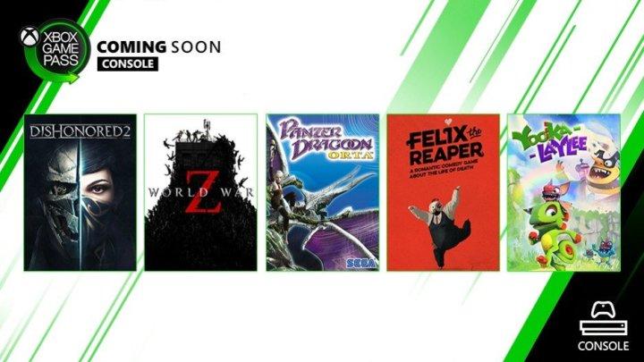 #YookaLaylee et WorldWarZ sont disponibles sur #XboxGamePass. Tous à vos Xbox One ! pic.twitter.com/SQI1z2HEn1