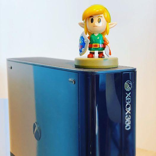 Le cross-over improbable #Xbox360 #Xbox360E #Link #Zelda #amiibo #console #Xbox #microsoft #videogames #collection #love…