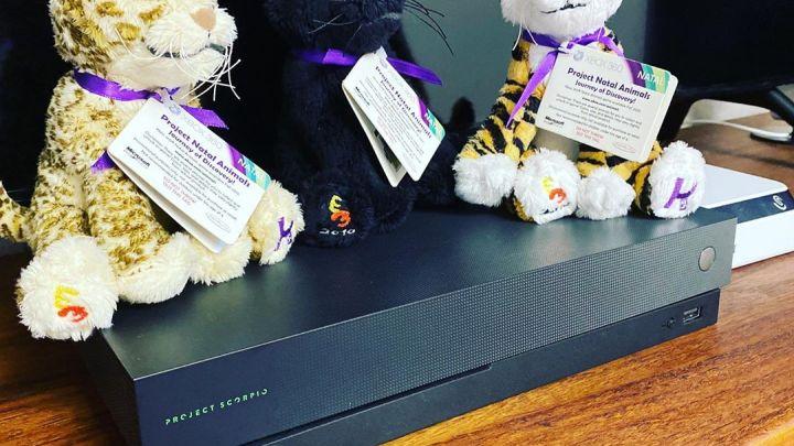 Les peluches données en cadeau lors de l'annonce de #Kinect à l'E3. Enfin … Project Natal … #kinect #projectnatal #x…