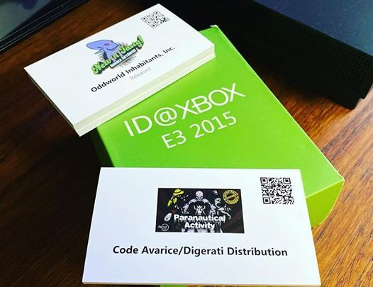 Une sympathique petite boîte en carton contenant tous les jeux ID@Xbox en préparation à l'époque de l'#E32015 #xbox #xbo…
