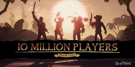 Sea of Thieves franchit la barre des 10 millions de joueurs depuis le lancement ! Bien évidemment on compte les joueurs …