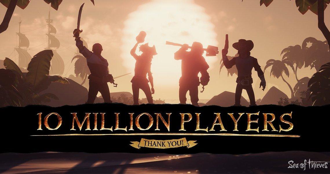 #SeaOfThieves franchit la barre des 10 millions de joueurs depuis le lancement !Bien évidemment on compte les joueurs #XboxOne et #PC mais ça reste un grand chiffre ! pic.twitter.com/7pWQgbZTUM