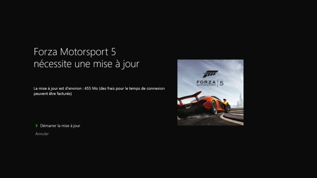 Mise à jour Forza Motorsport 5