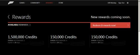 Forza Rewards Janvier