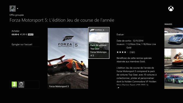 forza motorsport edition jeu de l'année à 41.99€