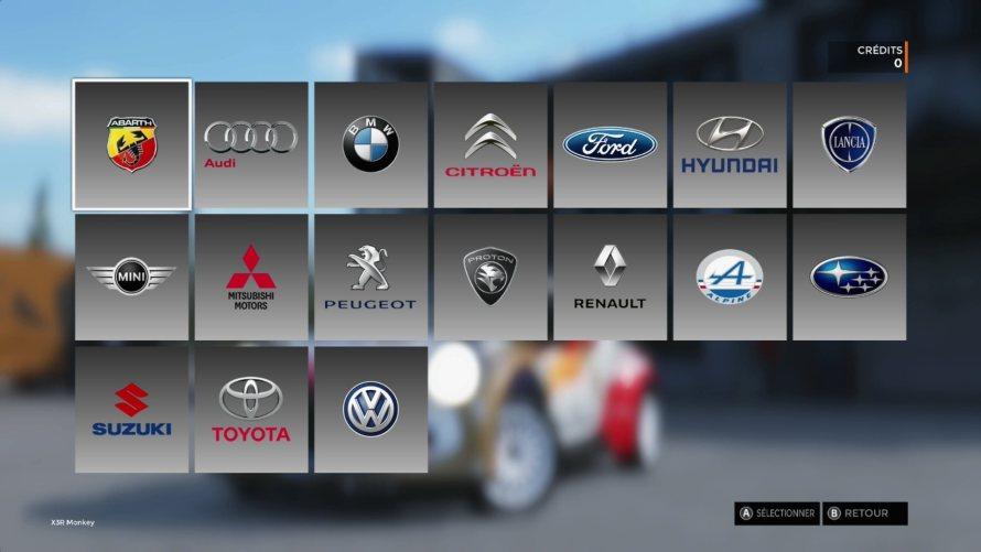Constructeurs Sebastien Loeb Rally Evo