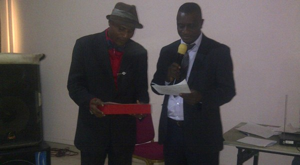 publisher of Frontline News, Dr. Dike Awana and the MC, Osadebe Izuorah a.k.a. Komkom