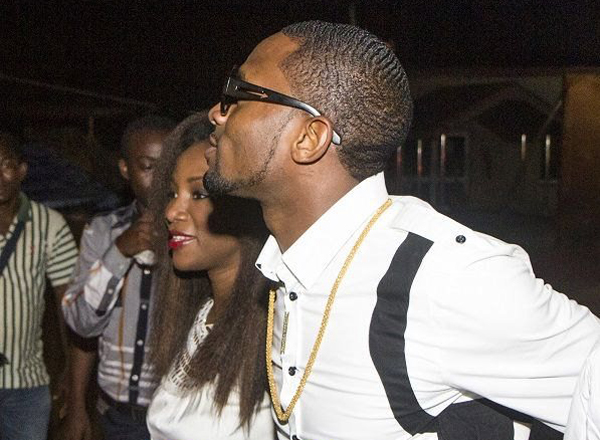 Dbanj and Genevieve Nnaji at Club Ultimate-December 2013. PHOTO Credit: BellaNaija