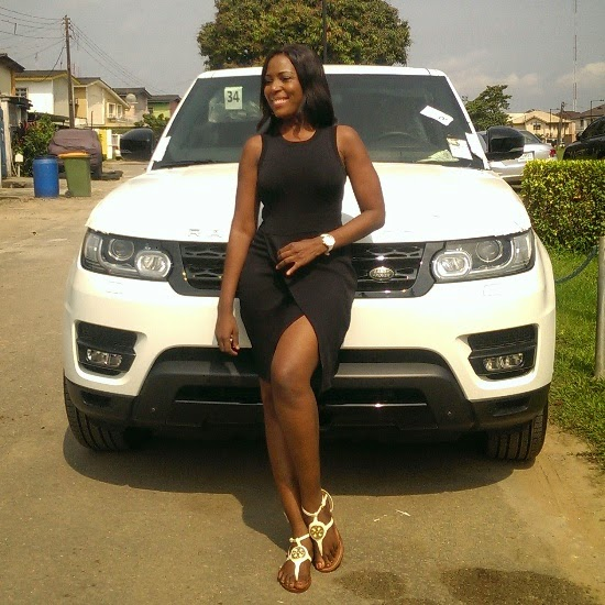 Linda Ikeji shows off her brand new 2014 Range Rover