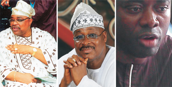 Governor Abiola Ajimobi, Otunba Alao Akala and Engineer Oluwaseyi Abiodun Makinde