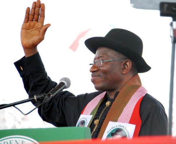 The Nigerian President Goodluck Jonathan