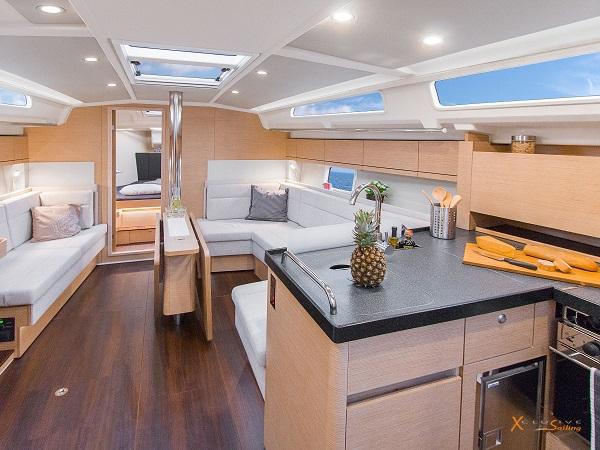 Luxury Sailing Yacht Saloon