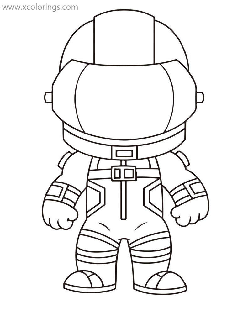 Fortnite Coloring Pages Chibi Dark Voyager Xcolorings Com