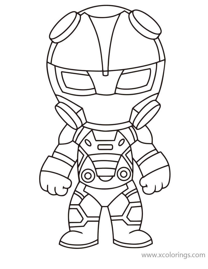 Fortnite Coloring Pages Chibi Omega Xcolorings Com