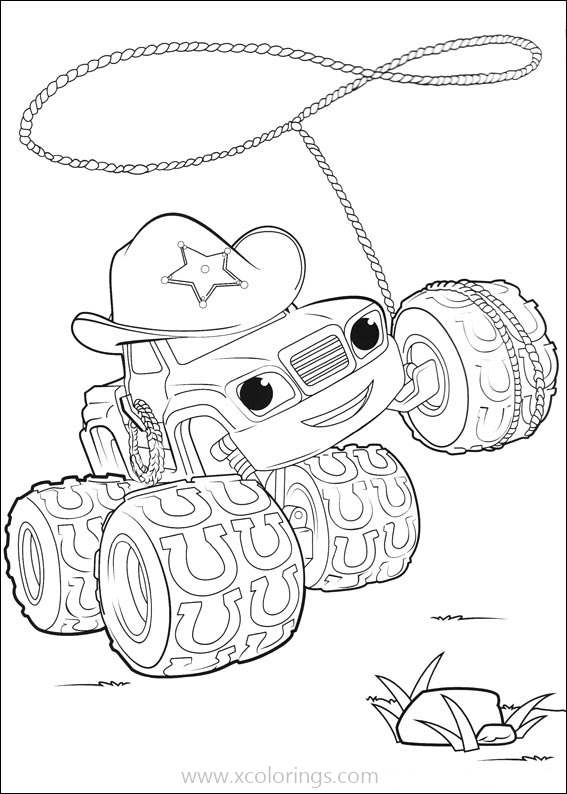 Blaze And The Monster Machines Starla Coloring Pages Xcolorings Com